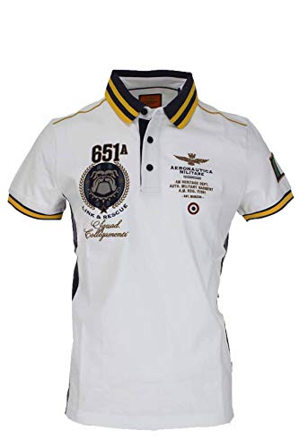 Aeronautica Militare Polo Uomo MOD. PO1470P183 Bianco M
