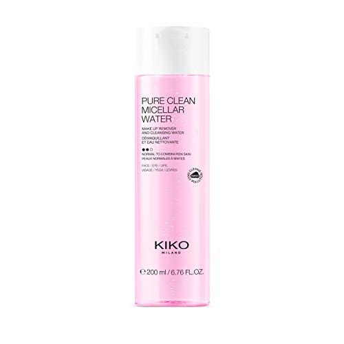 Kiko Milano Pure Clean Micellar Water Normal To Combination 200 ml Agua Micelar Desmaquillante para Rostro, Contorno de Ojos y Labios, para Pieles de Normales A Mixtas