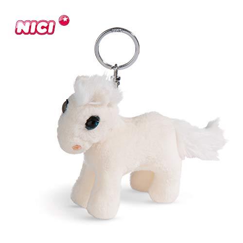 NICI Schlüsselanhänger Kuscheltier Pferd White Peach 10 cm – Plüschtier Pferde Kuscheltieranhänger mit Schlüsselring für Schlüsselband, Schlüsselbund, Schlüsselhalter & Schlüsselkette – 44890