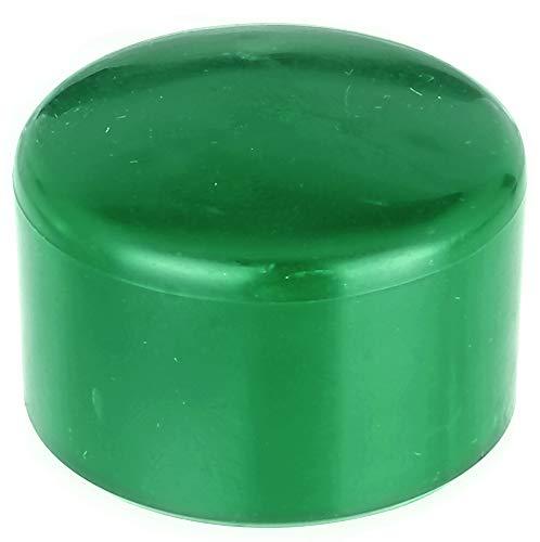 GAH-Alberts 654535 Pfostenkappe für runde Metallpfosten   Kunststoff, grün   für Pfosten-Ø 44 mm   20er Set