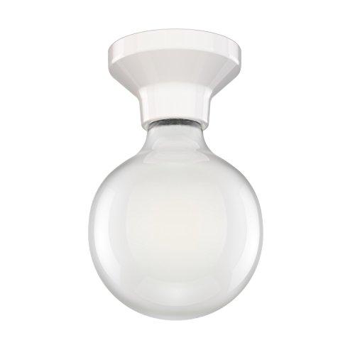 ledscom.de LED Lampada da soffitto Elektra Porcellana Sfera incl. E27 G125 Lampadina Opaco 6W=59W Bianca Calda 780lm