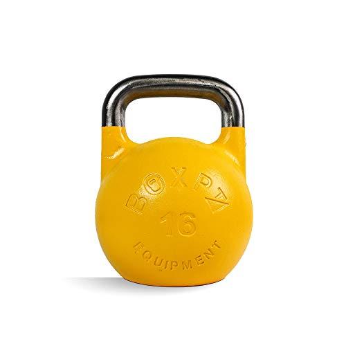 BOXPT equipment Kettlebell de Competición en Hierro Cromado Amarillo (16kg)