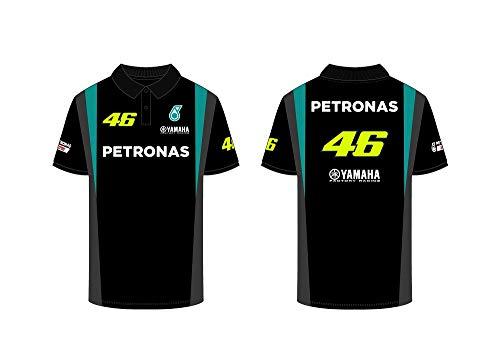 Valentino Rossi Vr46 Petronas 46 Yamaha, Herren-Poloshirt, Schwarz, XXXL
