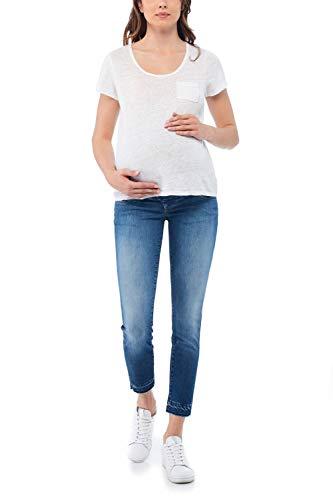 Salsa Hope Capri Jean de maternité en rinçage moyen -  Bleu - 36