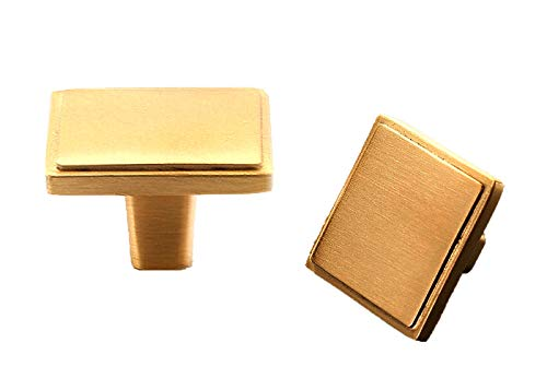 AngYou 2PCS Nordic Minimalism Solid Brass Cabinets Knobs,Solid Golden Hardware Furniture Door Handle,chests of Drawers, Dressing Tables, Various Drawers, Single Hole with Screws (Size : 2PCS)