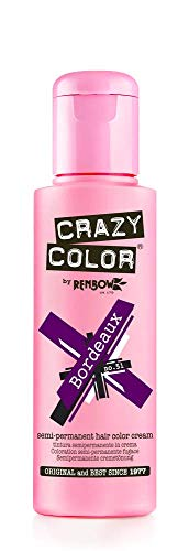 Renbow Crazy Color Semi-Permanent Hair Color Dye bordeaux 51-100 ml, 1er pack (1 x 115 g)