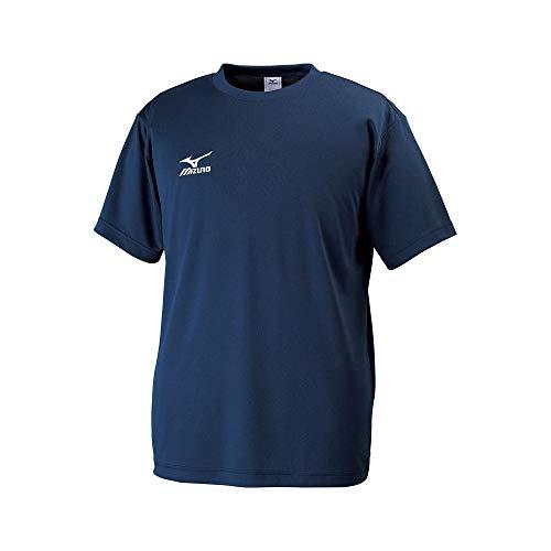 [ミズノ]  トレーニングウェア 半袖Tシャツ ナビドライ Uネック 吸汗速乾 メンズ 32JA6150 14 ドレスネイビ...