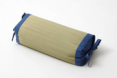 Ikea Hiko, traditionelles japanisches Kissen, aus natürlichem Igusa-Gras, höhenverstellbar, 30 x 15 cm, hergestellt in Japan, Blau