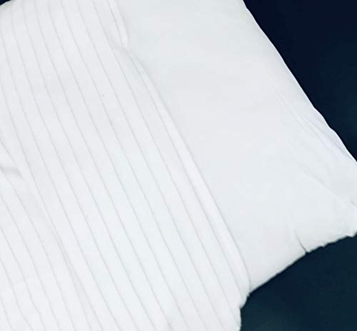 Alpes Blanc Lot de 2 sous taies d'oreillers en Coton/Housse protège Oreiller Antistatique Set de 2/ Protection pour Oreiller (50_x_70_cm)