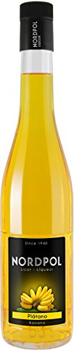 Bananen Likör Nordpol, Goldgelber Bananenlikör aus Spanien (1 x 0.7 l, 20% vol.)