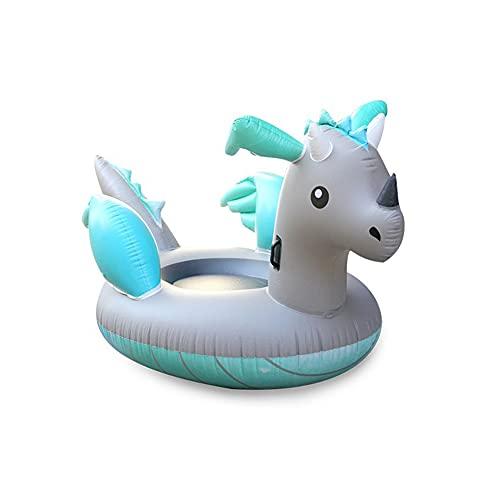 Inflable Silver Dragon Cama Flotante Dinosaurio Junto al mar Vacaciones Natación Cama Flotante Montaje en Agua para Adultos Fila Flotante Cama Flotante Flotante Enviar Herramientas inflables