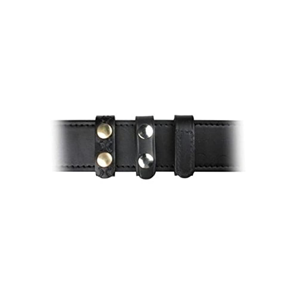 Boston Leather 5458-1 Plain Black Belt Keeper Standard 3/4