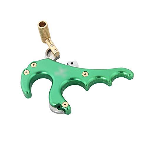 Lvguang Bogenschießen Fingerbogen Daumenfreigabehilfe Metallabzug Triggerpfeil Bremssattel für Compoundbogen (Style#5, 10 cm * 6 cm * 3 cm)