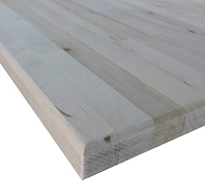 """Allwood 1.5"""" x 30"""" x 96"""" Birch Table/Counter/Island Top see all edge options (Routed edges 1 face)"""