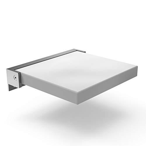 LXHkk Klappbarer Duschhocker Wandduschstuhl Tragfähigkeit Bis 200 Kg Design Verlangsamen 90 ° Faltbar Geeignet Für Ältere/Schwangere/Behinderte Menschen,Weiß