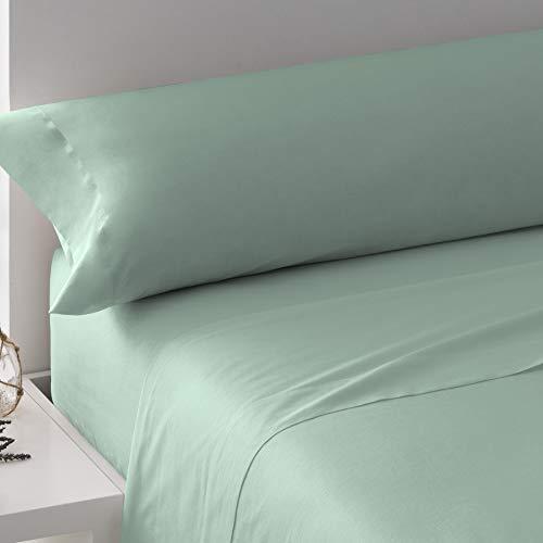PimpamTex – Juego de Sábanas 100% Algodón para Cama – (Cama 90, Verde Tiffany)