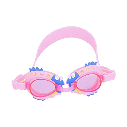 DSJSP Gafas de natación para niños, Gafas de natación para niños y niñas Sin Fugas Gafas de natación de Dibujos Animados Ajustables antiniebla
