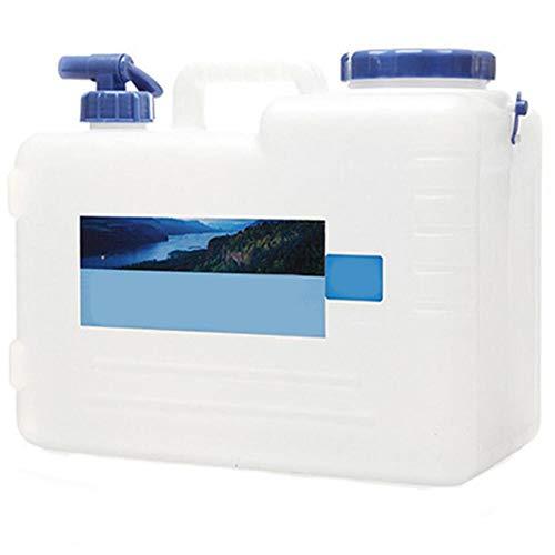 Fablcrew. Jerrican - Cubo de Agua portátil para Acampada con Grifo (10 L), Color 35 * 19 * 30CM, tamaño 15 L