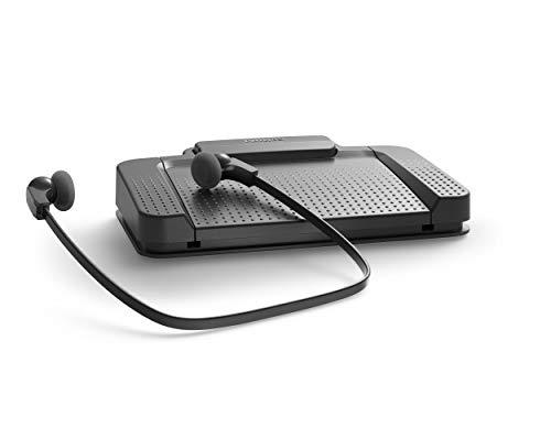Philips LFH5220/03 Wiedergabe Set, USB-Fußschalter ACC2310, Kopfhörer LFH0334, Audio Adapter, Treiber und Dienstprogramme CD, Anthrazit & Transkriptions-Kopfhörer LFH0334