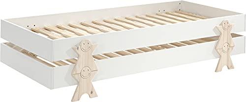 Destock - Mobili per letto matrimoniale, 90 x 200 cm, motivo: Smiley