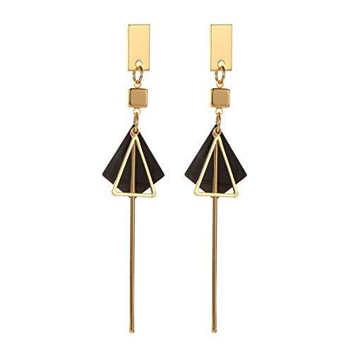 XIANRUI Franse Stijl Driehoek Drop Oorbellen Temperament Metalen Geometrische Persoonlijkheid Oor Ornamenten
