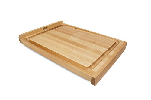 John Boos Block KNEB23 Maple Wood Countertop Reversible Edge Grain Cutting Board with Gravy Groove, 23.75 Inches x 17.25 Inches x 1.25 Inches