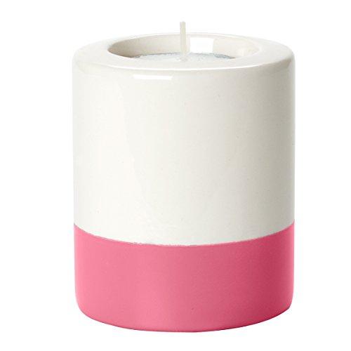 Present Time Petite en céramique Dip-it Sarcelle lumière Support, Gris P, Rose, 8.5cm