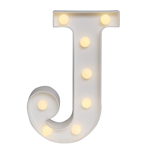 Scritta decorativa con luci LED, utilizzabile per compleanni, feste di nozze, bar, camera da letto, come decorazione da appendere al muro J