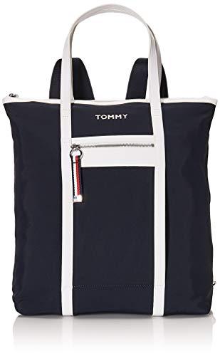 Tommy Hilfiger Nylon Tote Sky Captain/White