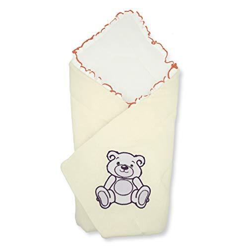 BlueberryShop Jersey Baby Swaddle Wrap beddengoed deken | Slaapzak voor pasgeborenen | Bestemd voor kinderen 0-3 maanden | Perfect als een baby douche cadeau | 78 x 78 cm | Crème