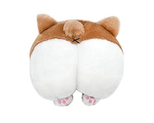 SCSpecial Car Neck Pillow Niedliches Corgi Butt Kopfstütze Baumwollkissen Weiches Kopfstützenkissen