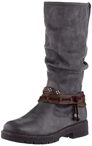 Tamaris Damen 1-1-26612-23 Hohe Stiefel, Grau (Anthracite Com 234), 39 EU