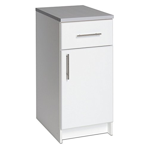 Prepac Elite 16 in. Single Door Utility Storage Base Cabinet - 36H in. (White)