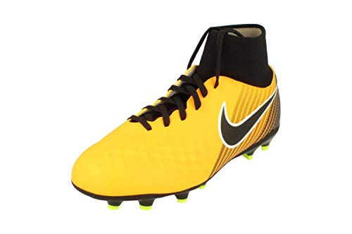 Nike Jr Magista Onda II DF Fg, Scarpe da Calcio Unisex-Bambini, Yellow Black, 37.5 EU