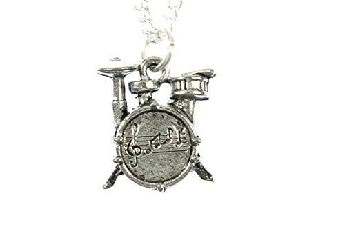 Miniblings Schlagzeug Musik Halskette - Handmade Modeschmuck I Kette mit Anhänger Länge: 45cm - Schlagzeuger Trommel Drummer