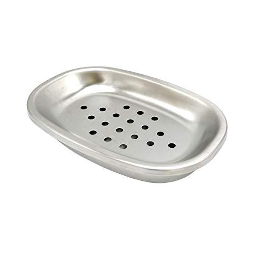 Lofekea Oval Seifenschale Edelstahl Seifenhalter Bad Dusche Doppelschicht Ablassen Seifendose