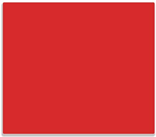 Wallario Herdabdeckplatte/Spritzschutz aus Glas, 1-teilig, 60x52cm, für Ceran- und Induktionsherde, Rot
