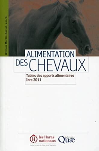 Alimentation des chevaux : Tables des apports alimentaires Inra 2011.