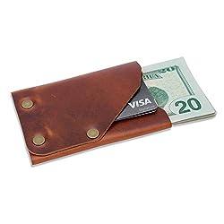 sleek minimalist leather wallet