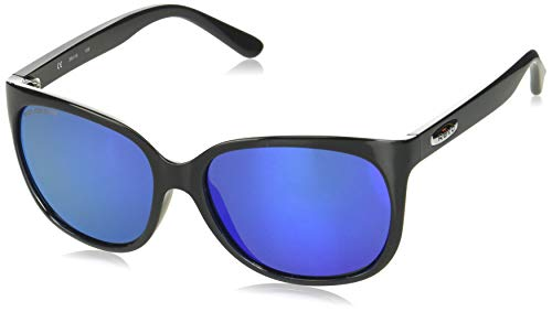 Revo Unisex RE 4051 Grand Classic Square Polarized UV Protection Sunglasses, Black Frame, Heritage Blue Lens