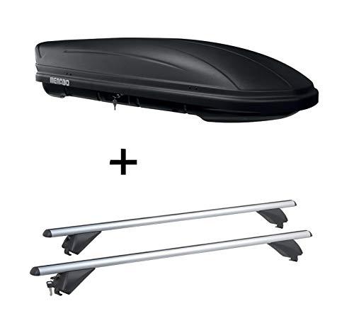 VDP Dachbox MAA 400 Liter matt + Alu Dachträger RB003 kompatibel mit Hyundai Tucson (5Türer) ab 2015