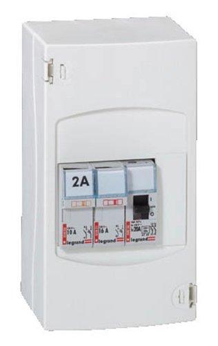 Legrand 092727 Tableau de Commande Automatique de Chauffe-Eau, 2 Disjoncteurs + 1 Contacteur, Blanc