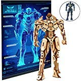 Pacific Rim Uprising Gipsy Avenger 3D Wood Puzzle &Model Figure Kit w/ Exclusive Poster (145 Pcs) - Build & Paint Your Own 3-D Movie Toy - Educational Gift for Kids & Adults, No Glue Required, 12+