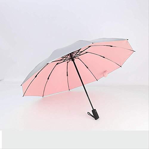 Vinyl 10 Knochen Sonnenschirm, Vollautomatische Reverse Schirm Outdoor Regenschirm, Klappbusiness Schirm Titanpulver