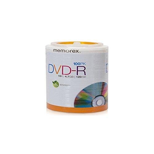 Memorex 32020034420 16X DVD-R (100 PK), 100 pack DVD-R Tote