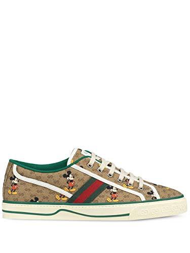 Luxury Fashion | Gucci Heren 606111H0T108530 Beige Katoen Sneakers | Lente-zomer 20