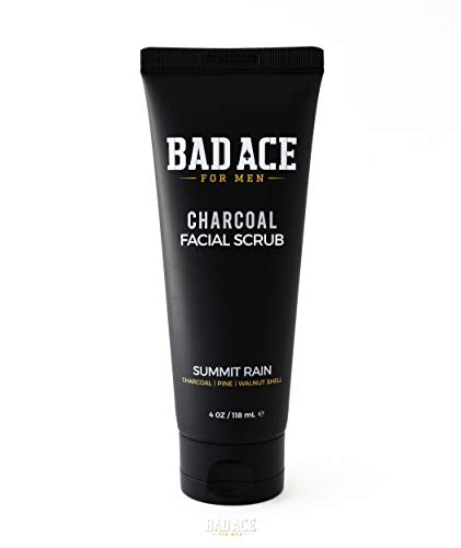 31wGS+MYGZL - BAD ACE Charcoal Facial Wash with Scrubs for Men - Summit Rain