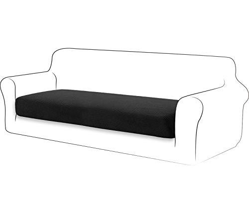 TIANSHU High Stretch Kissenbezug Sofakissen Schonbezug Möbelschutz Sofasitzbezug für Couch 1-teilige Kissenbezüge für 3 Sitzer (3 Sitzer, Schwarz)