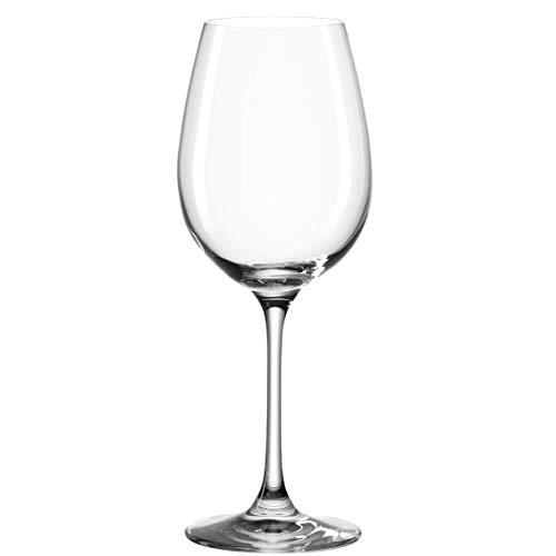 Leonardo Barcelona Weißwein-Gläser, Weisswein-Kelch mit gezogenem Stiel, spülmaschinenfeste Wein-Gläser, 6er Set, 410 ml, 062066