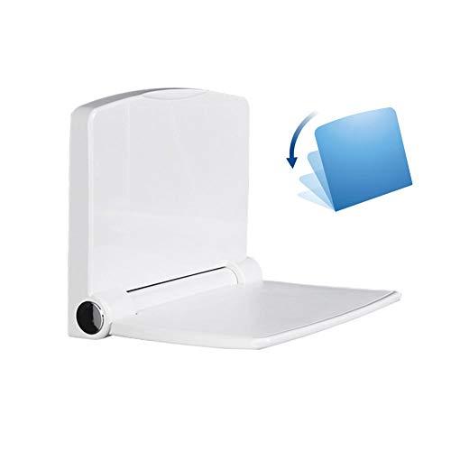 HEWYHAT Asiento de Ducha Plegable Banco montado en la Pared ABS Taburete de baño Plegable Moderno Silla de Asiento de Ducha 440lb Capacidad para Ancianos, discapacitados